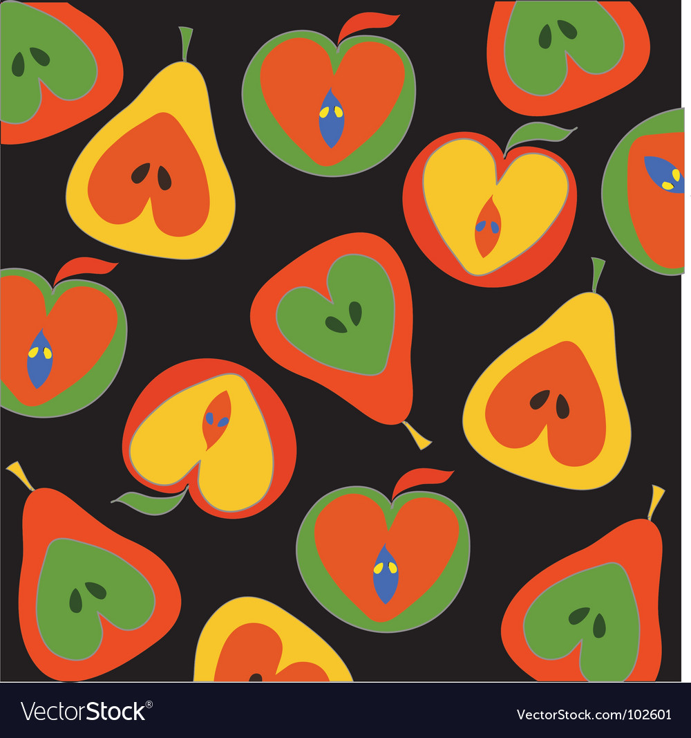 Apples and pears pattern