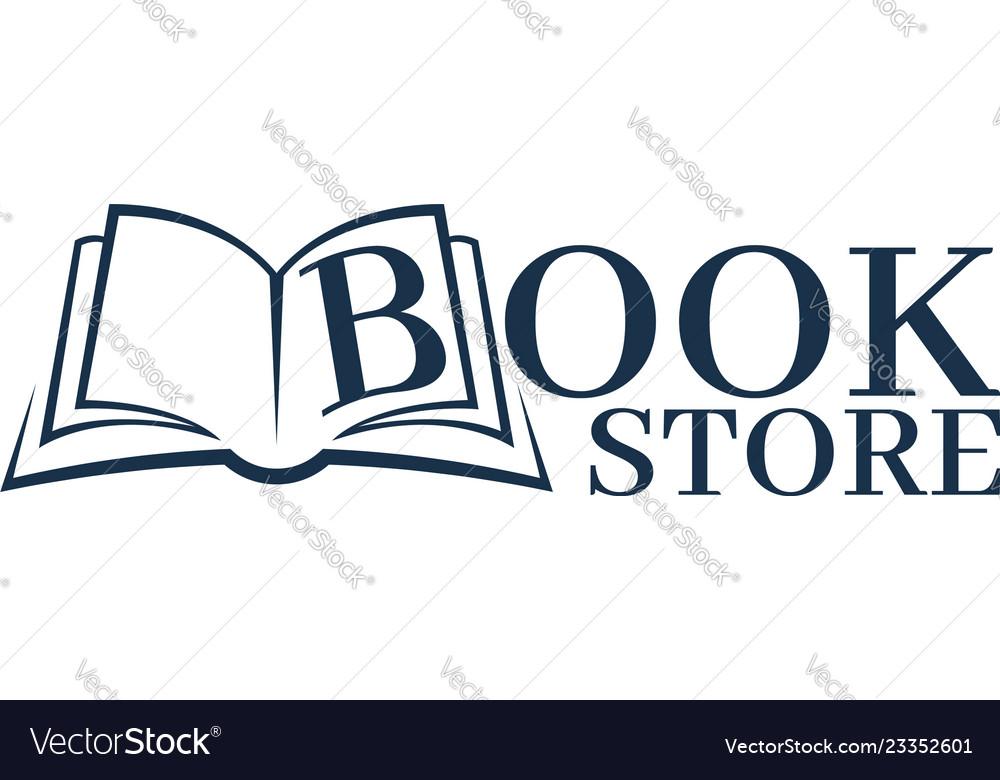 Bookstore logo template design logo open book