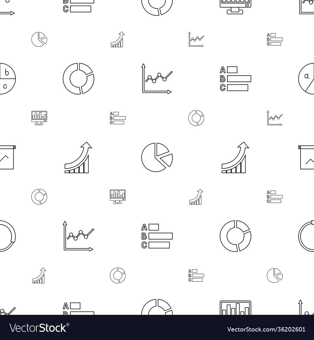 Diagram icons pattern seamless white background