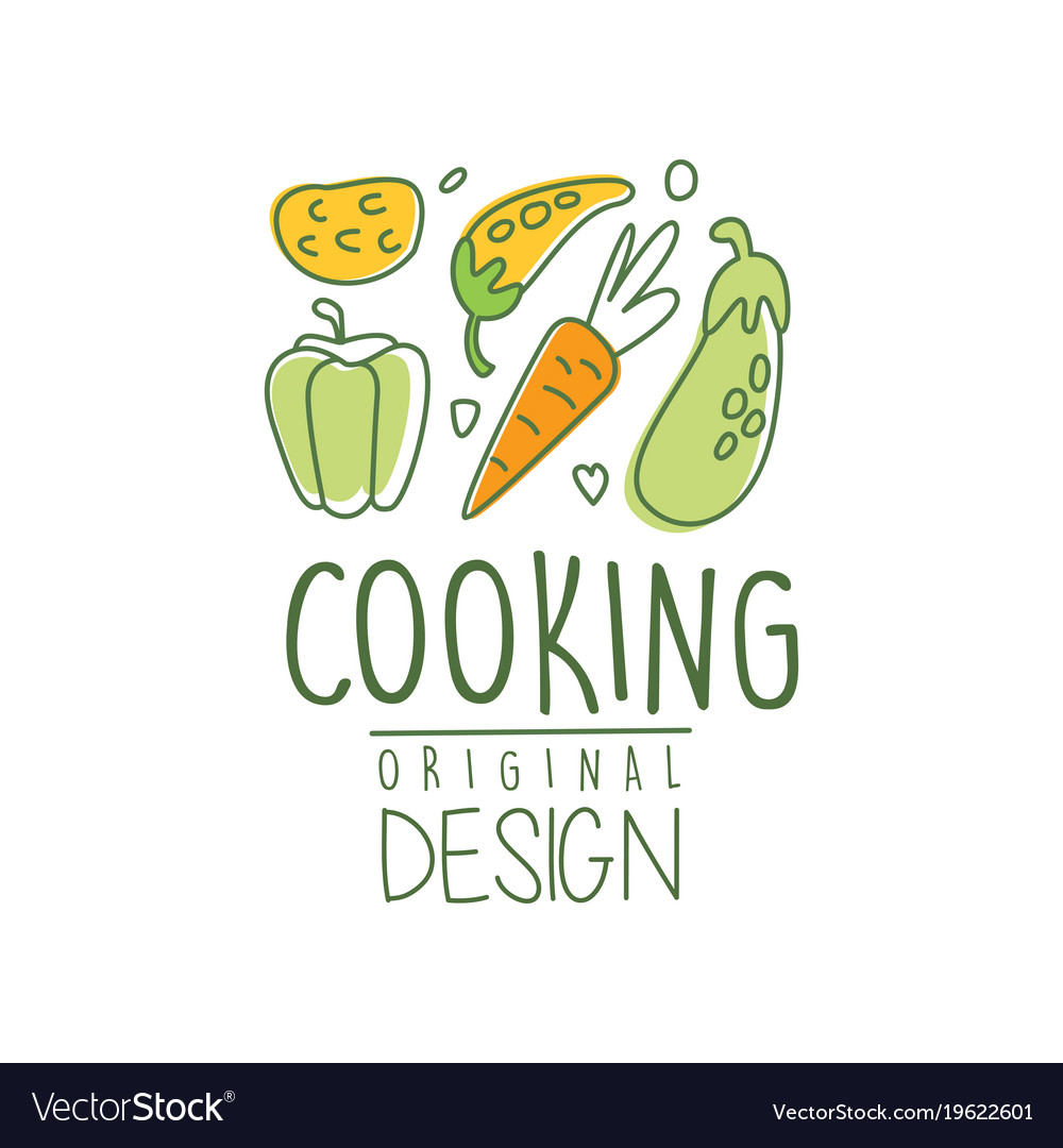 Hand Drawn Cooking Logo Design With Fresh