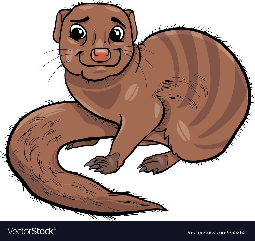 Mongoose animal cartoon