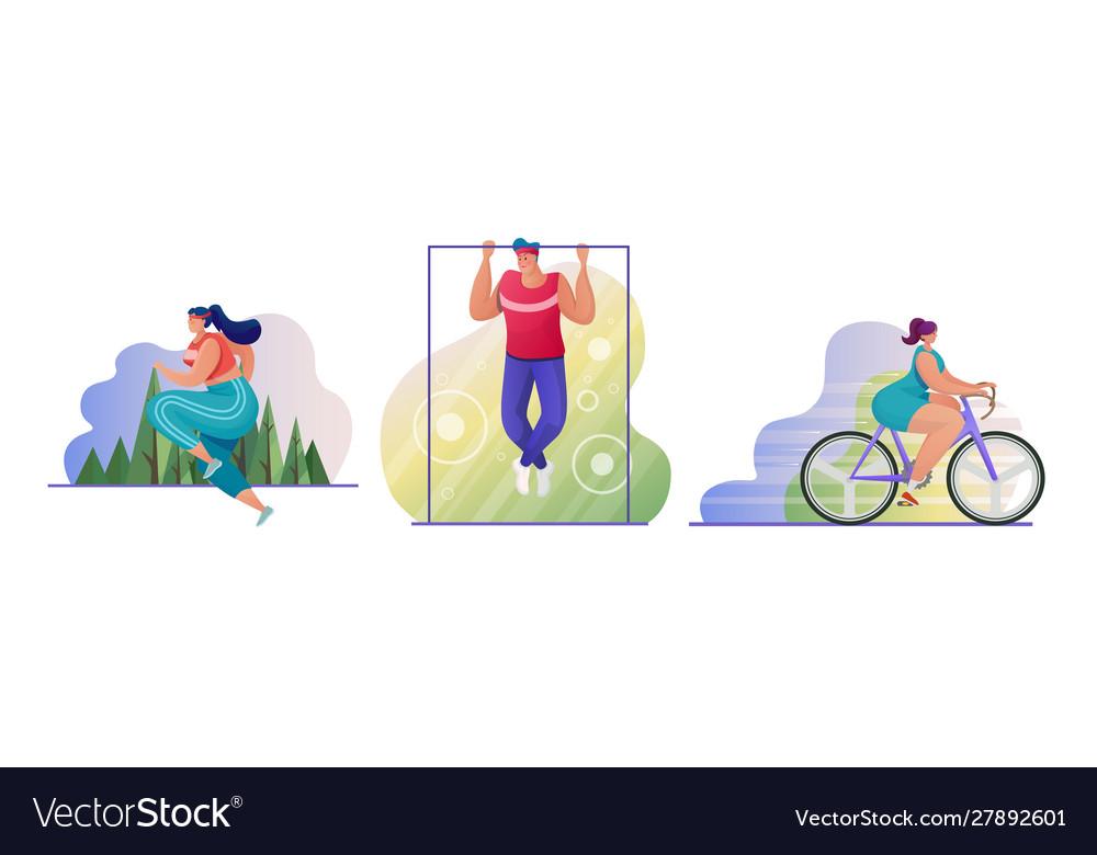 Outdoor sport flat set