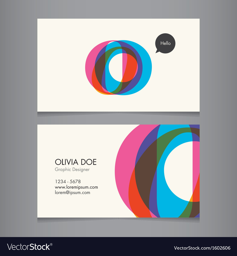Business card template letter O