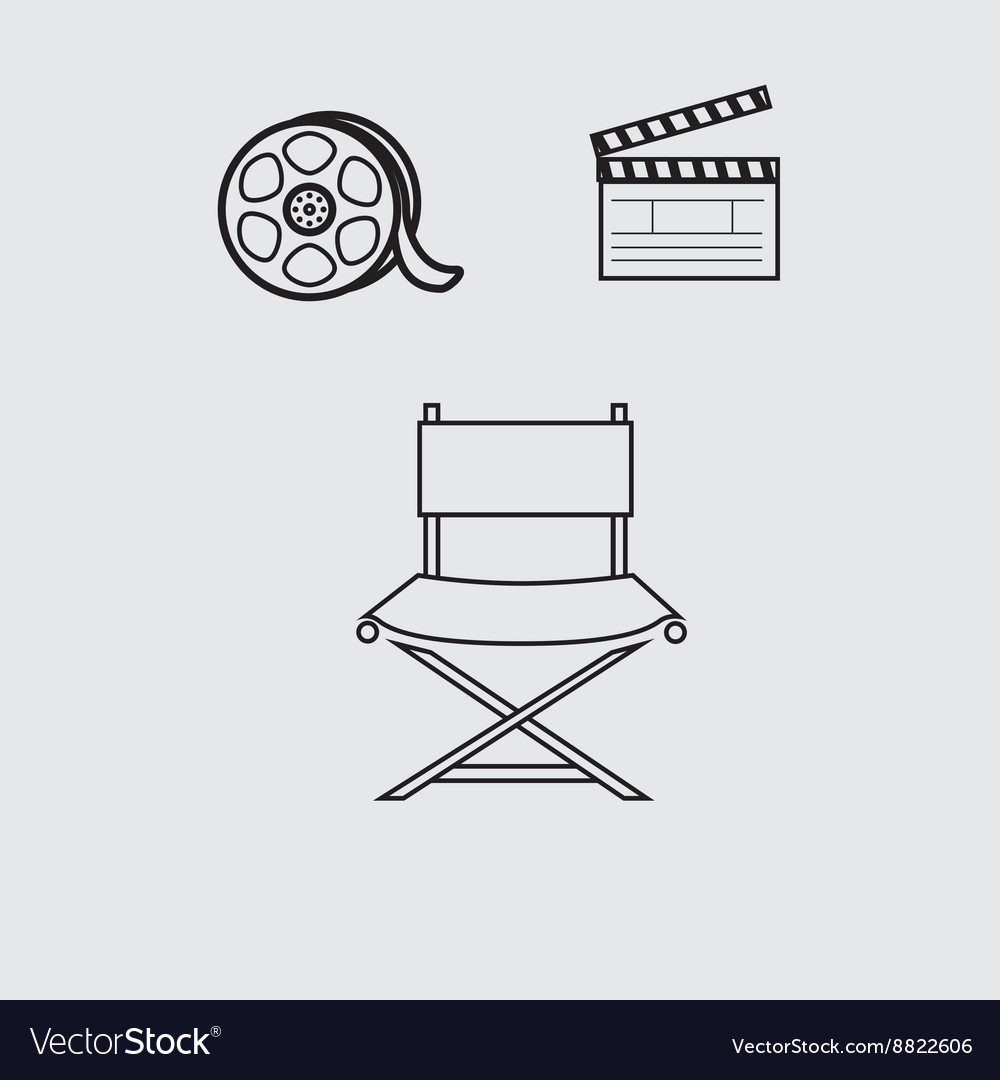 Film industry flat icon design