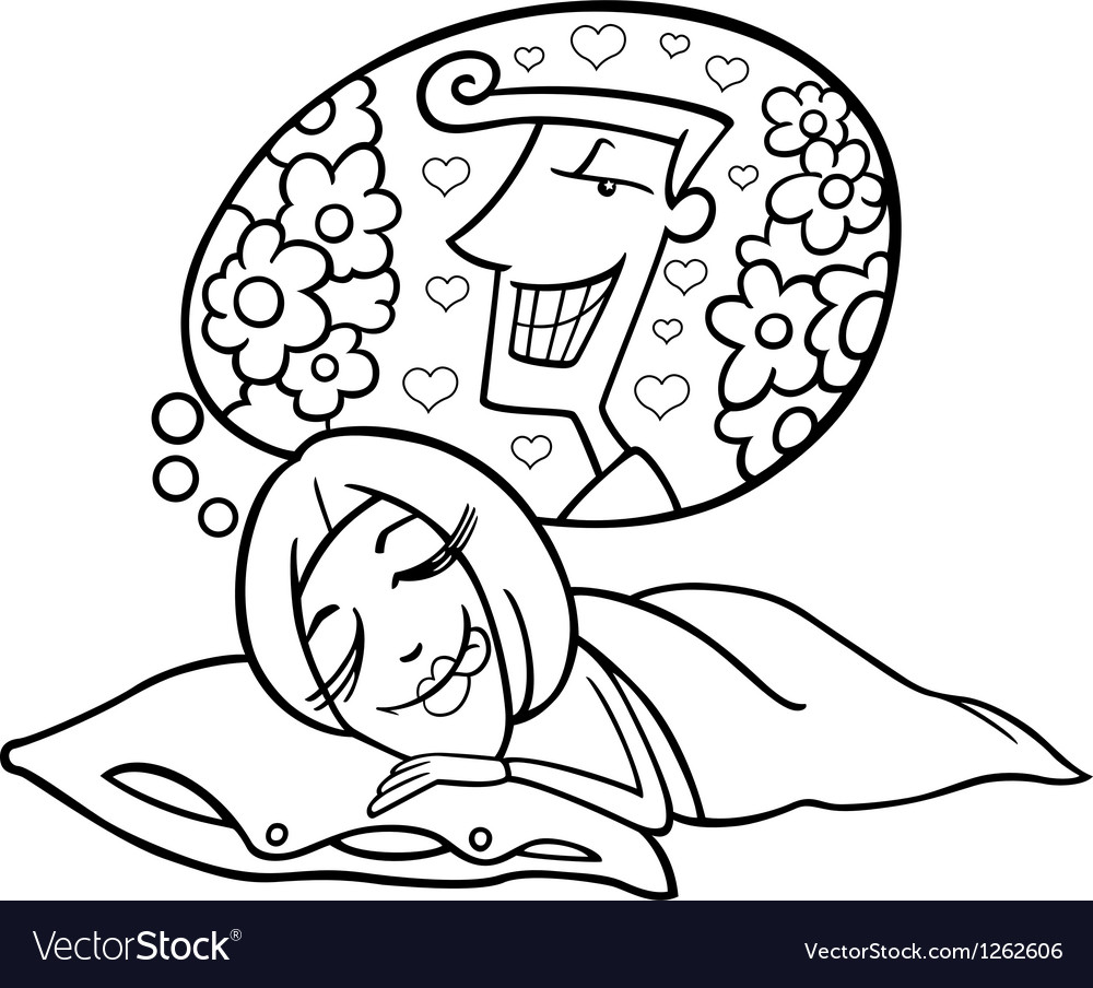 Funny woman dreaming about man vector image