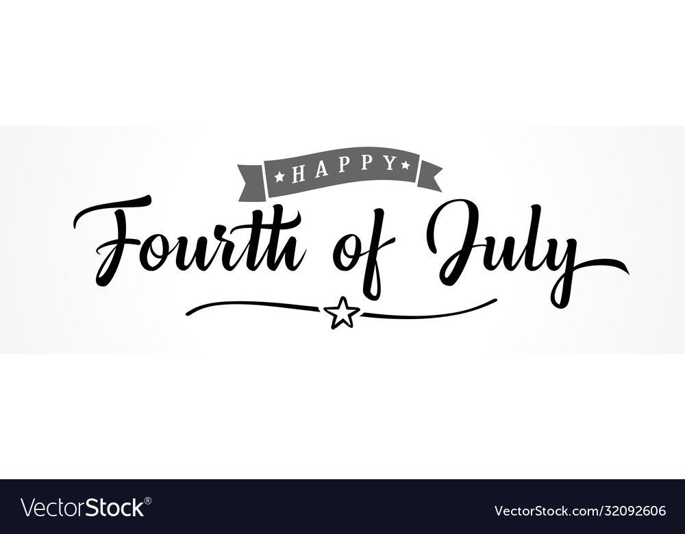 Happy fourth july lettering poster usa