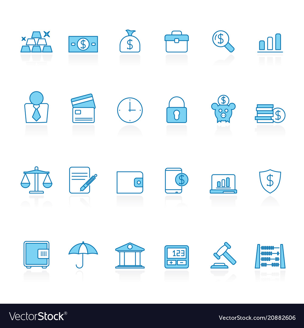 Line with blue background bank business finance vector image