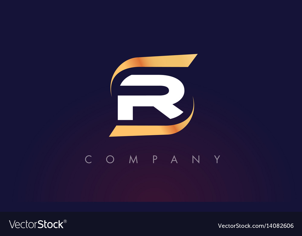 R letter logo design modern letter template vector image thecheapjerseys Gallery