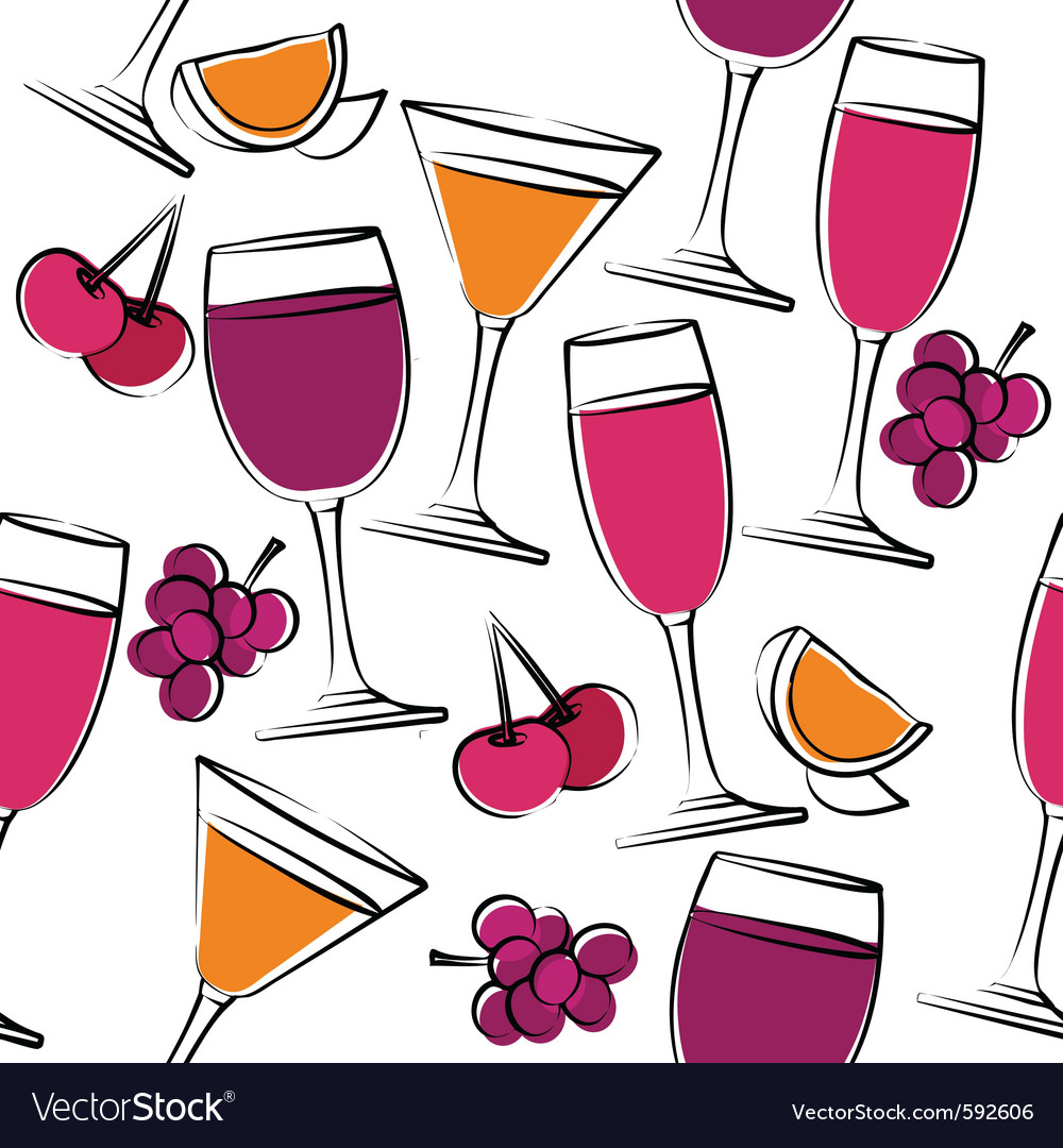 Seamless pattern with wine