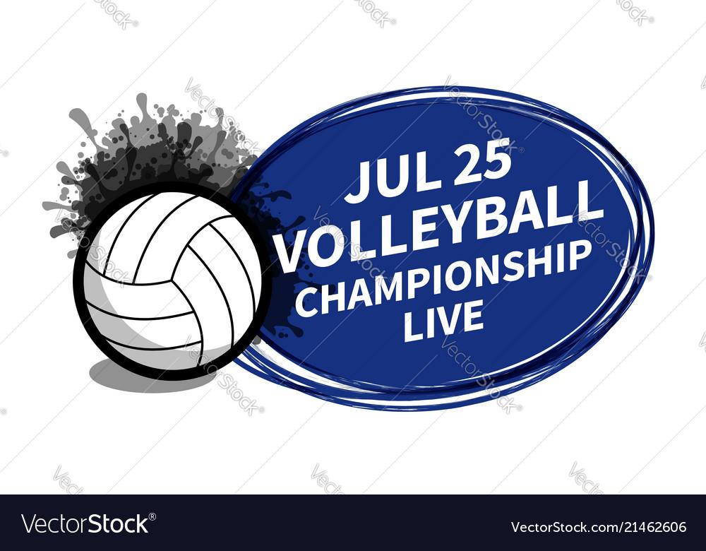 Volleyball sport scoreboard spotlight background