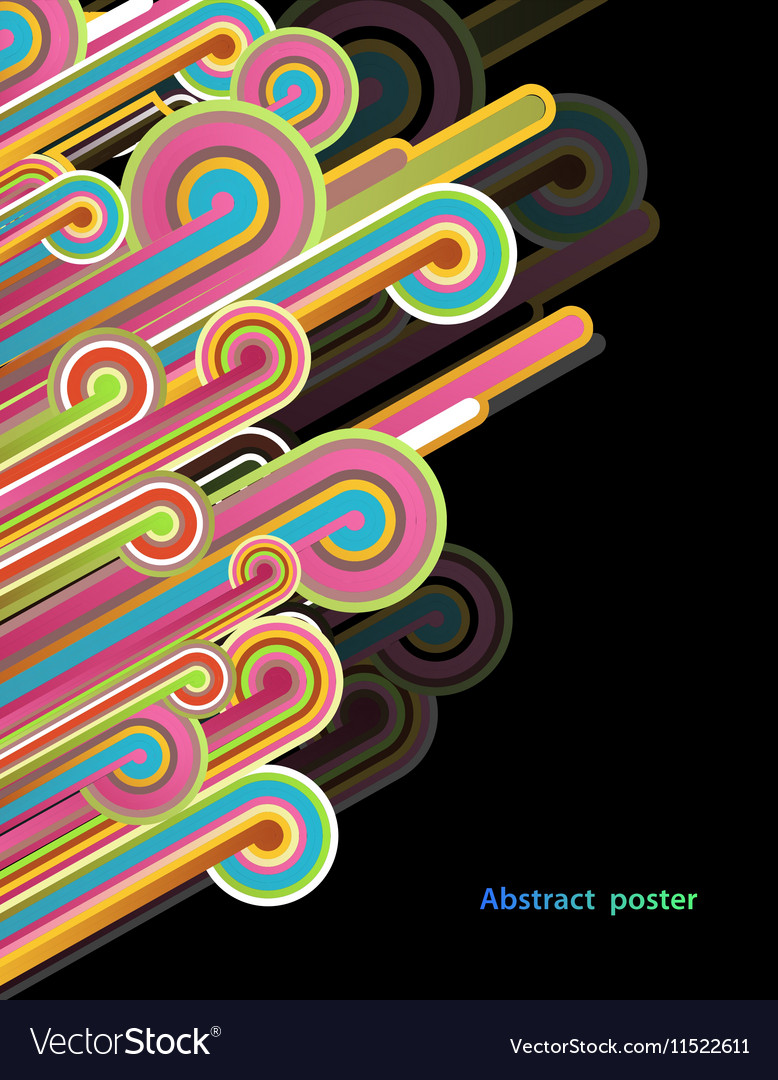 Abstract background with colorful lines - dark