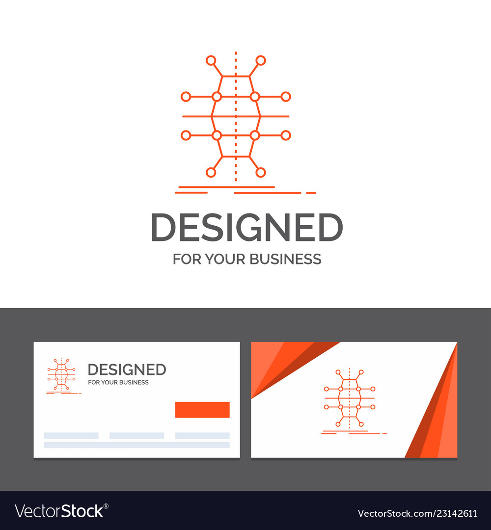 business logo template for distribution grid vector image
