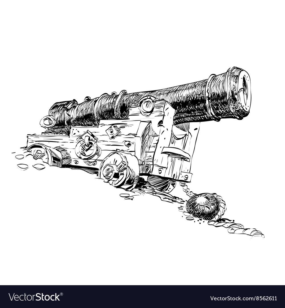 Cannon pirate graphics