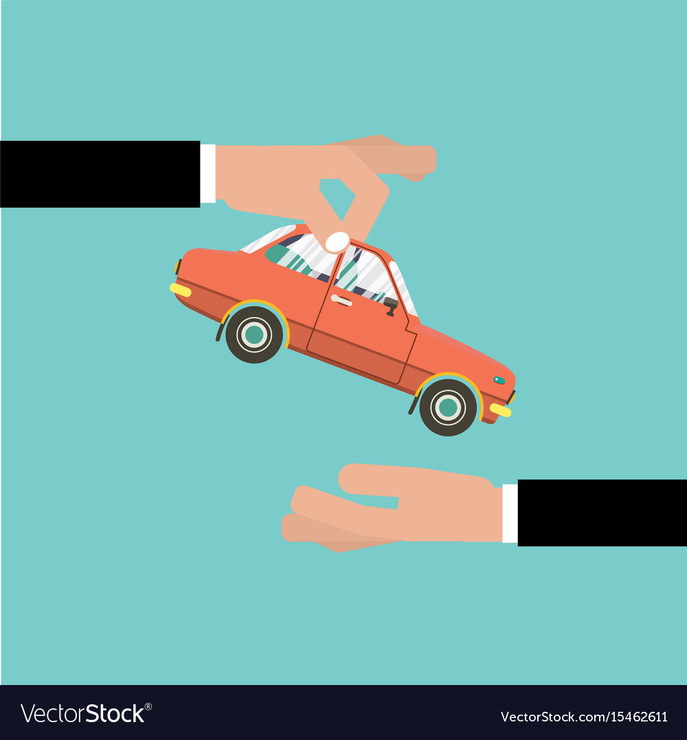 car for vehicle sales agreement royalty free vector image
