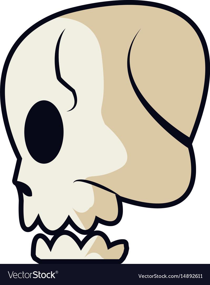 Cartoon skull bone fantasy character