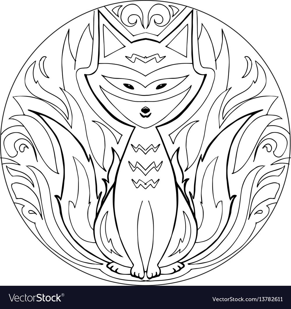 Coloring firefox mandala
