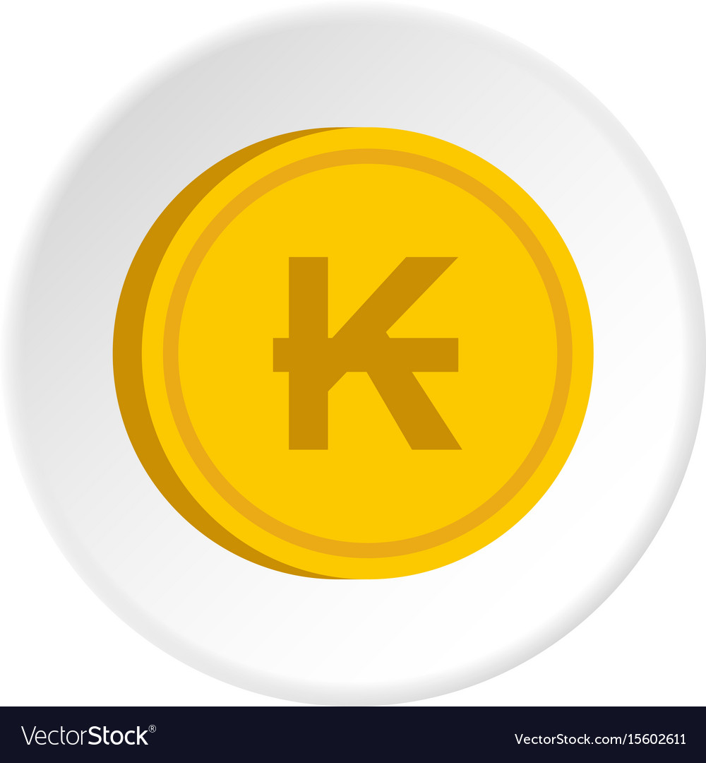 Gold coin with lao kip sign icon circle vector image