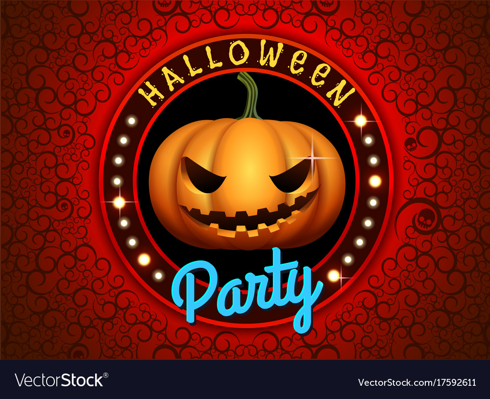 Happy halloween pumpkin party