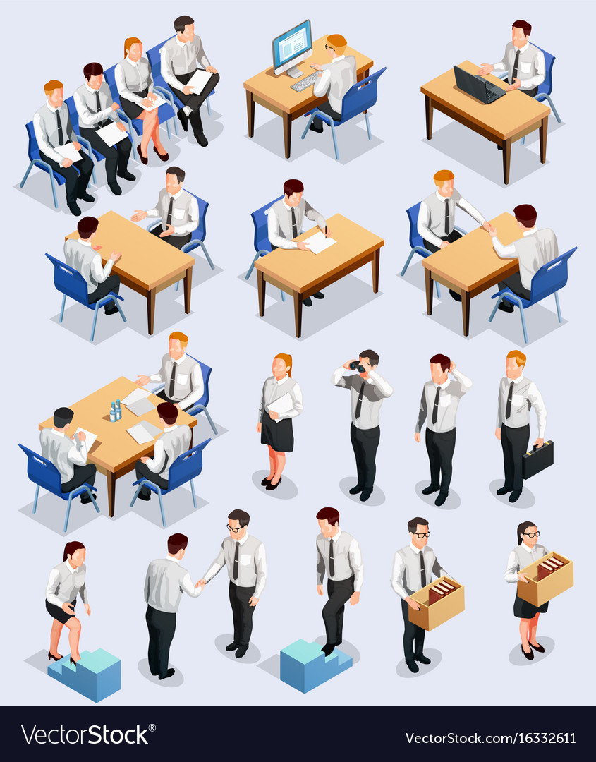 Isometric employment interview collection