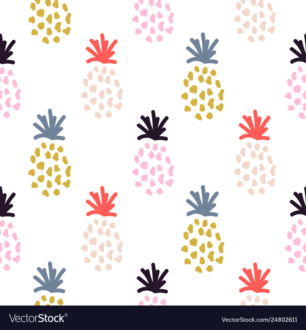Pineapple summer colorful tropical textile