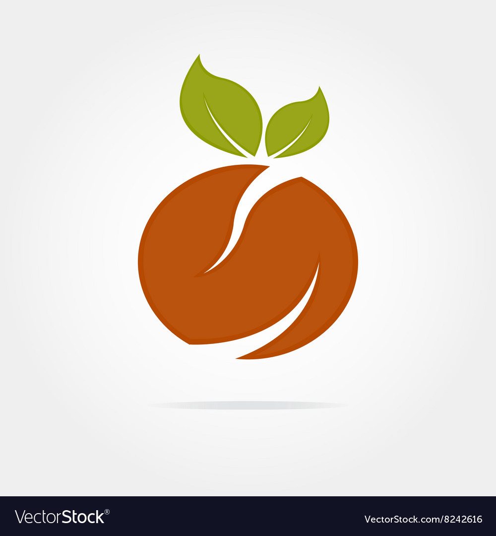 Abstract orange logotype