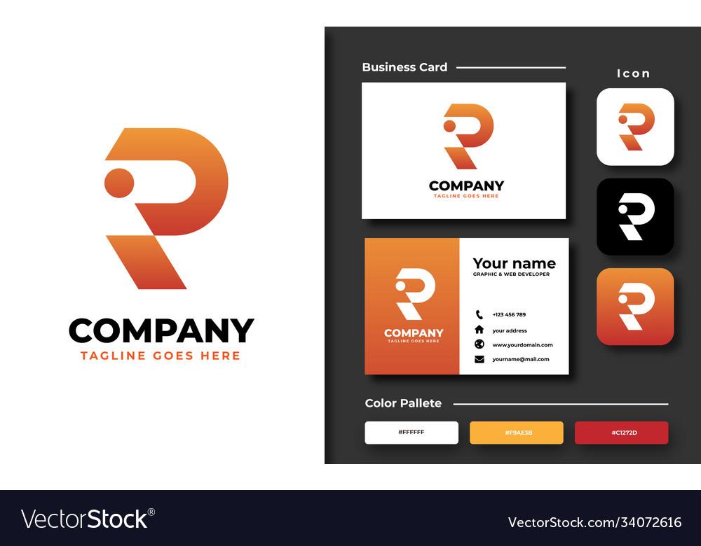 Creative professional trendy initial r logo