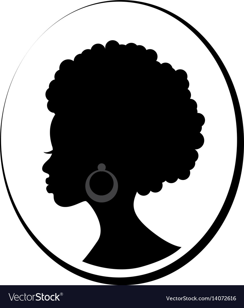 Face of african black woman in profile vector image