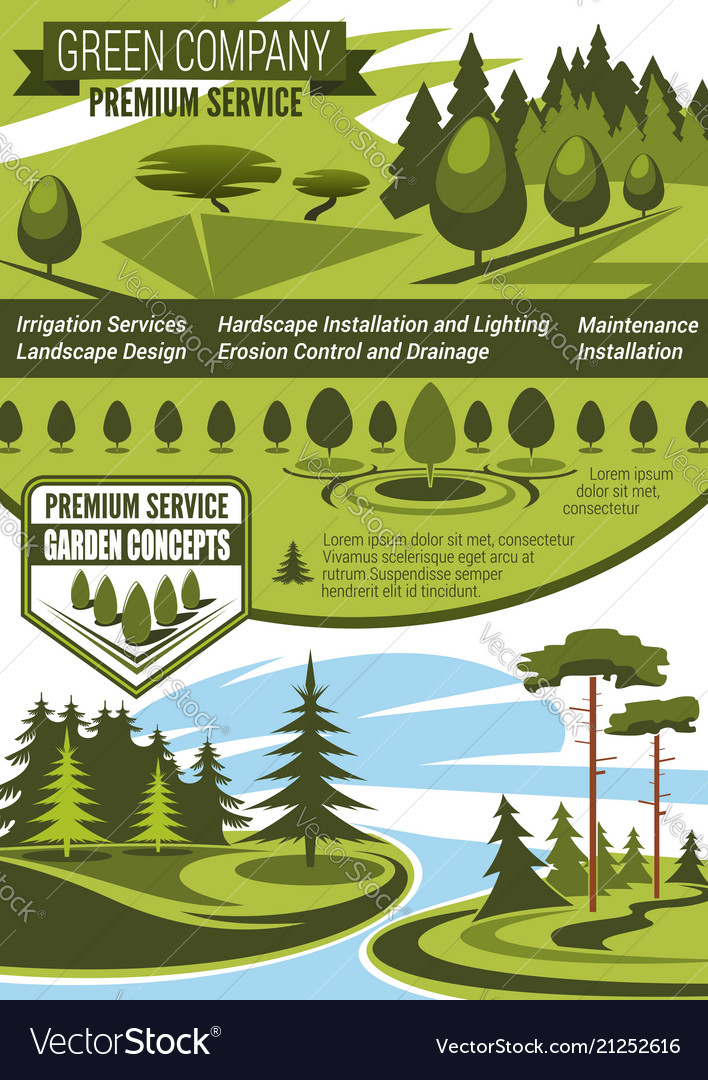 Landscaping And Gardening Service Company Banner