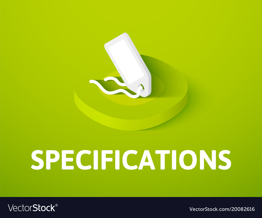 Specifications isometric icon isolated on color vector image