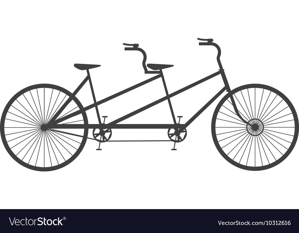 Для открыток, велосипед тандем картинки рисованные