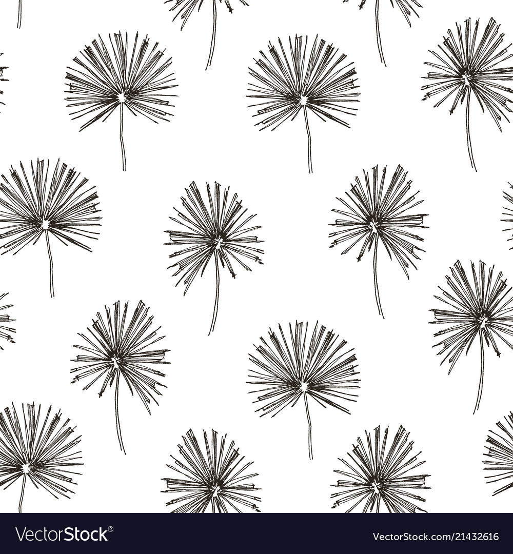 Tropic plants floral seamless jungle pattern