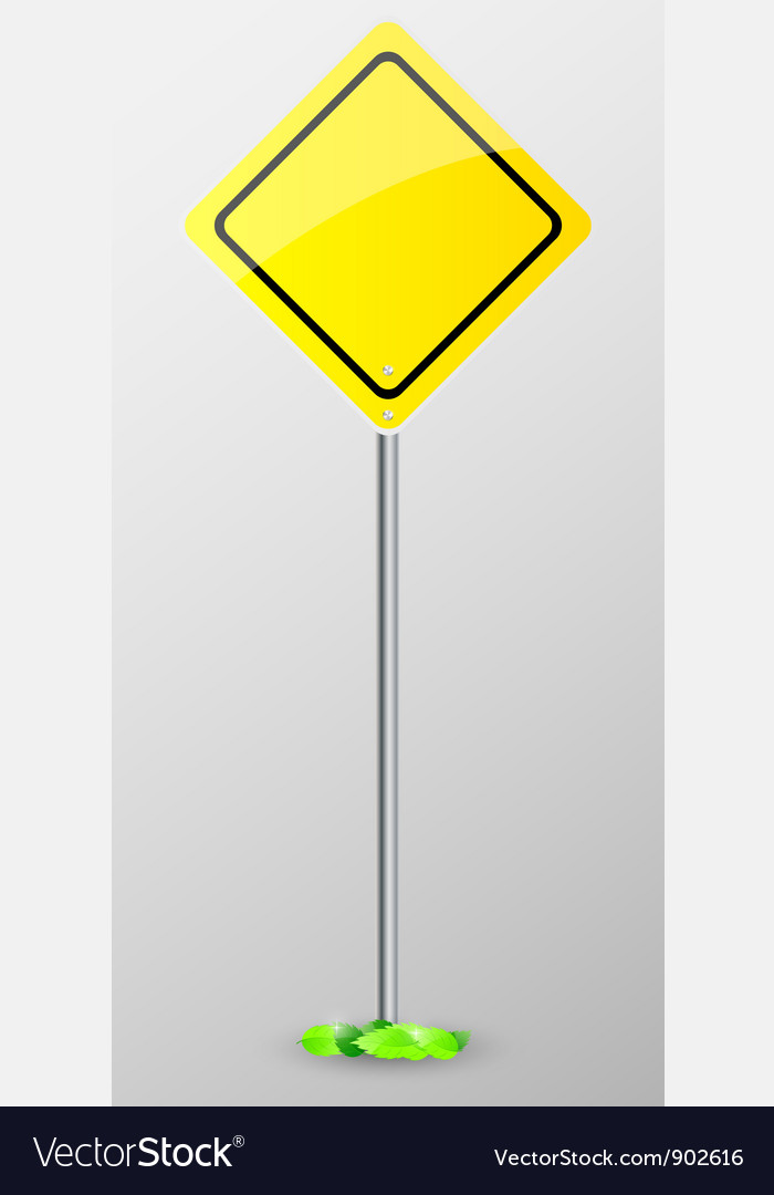 Yellow sign isolated