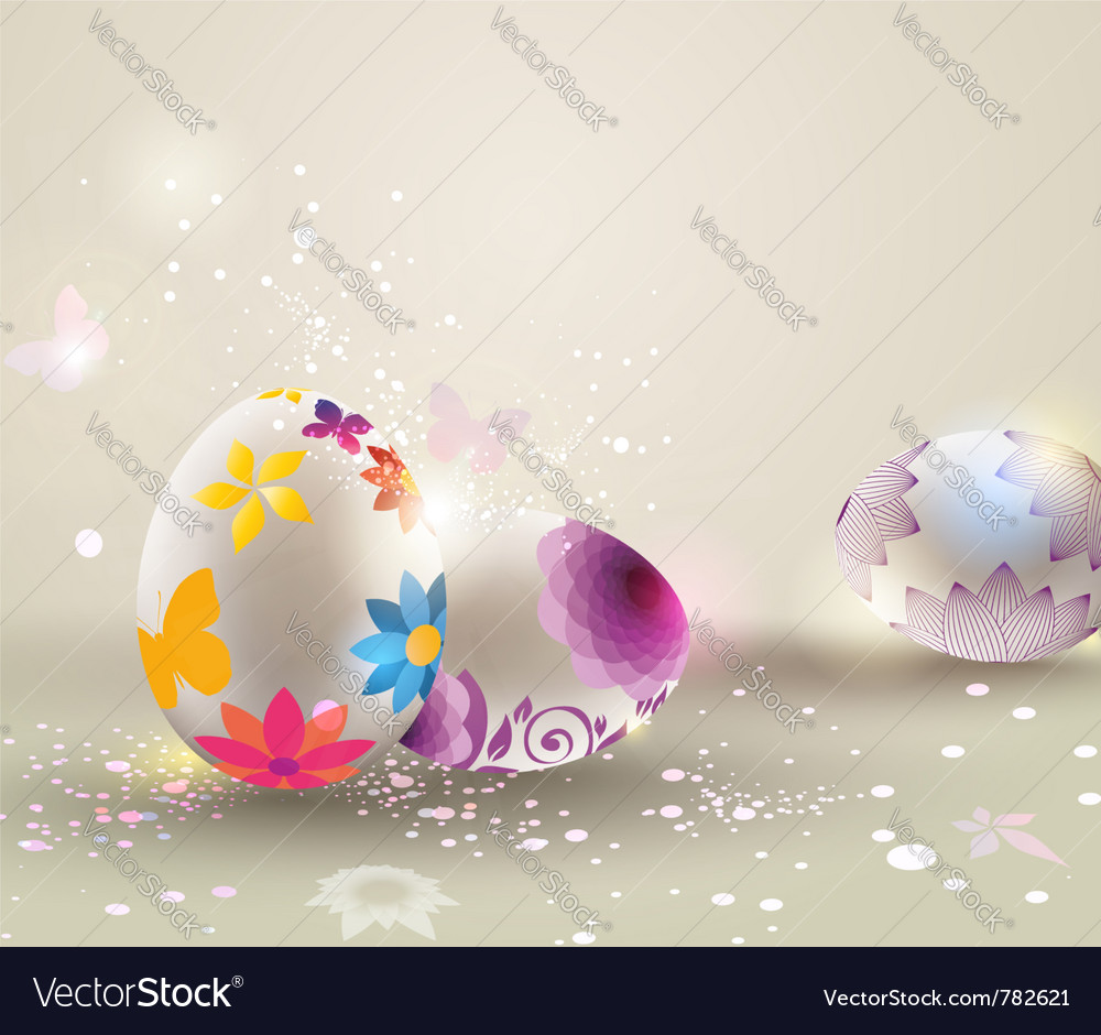 Easter light background vector image