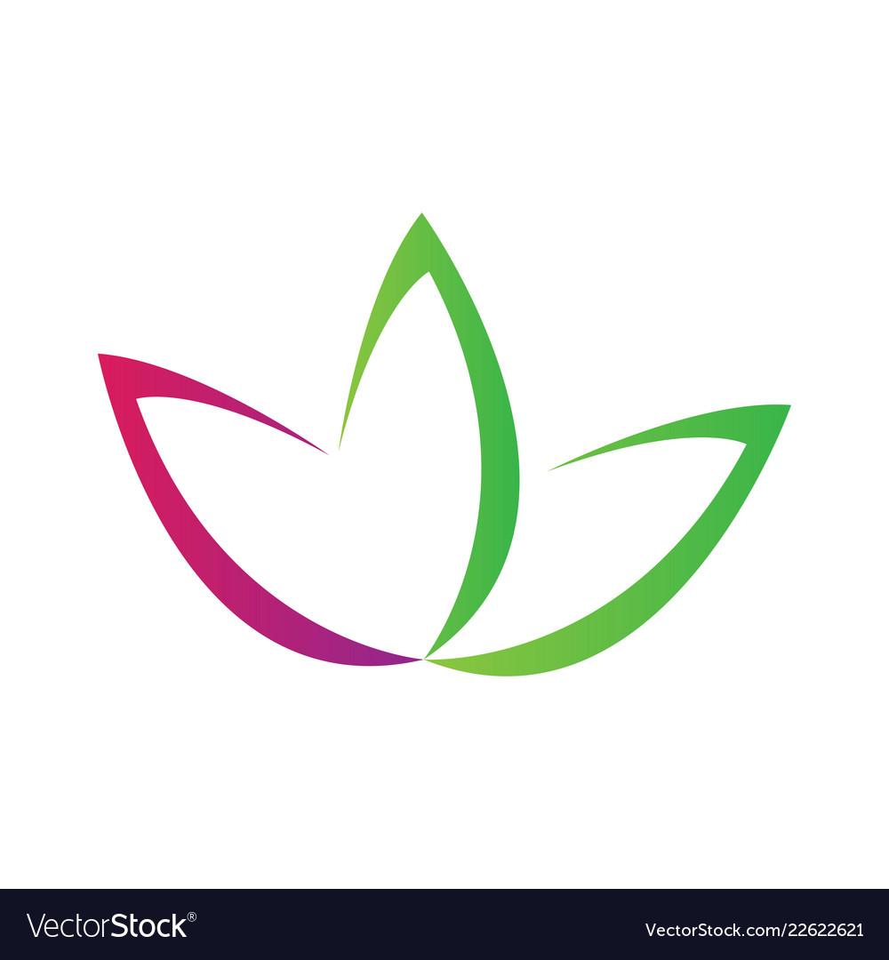 Lotus Flower Symbol Abstract Spa Logo Royalty Free Vector