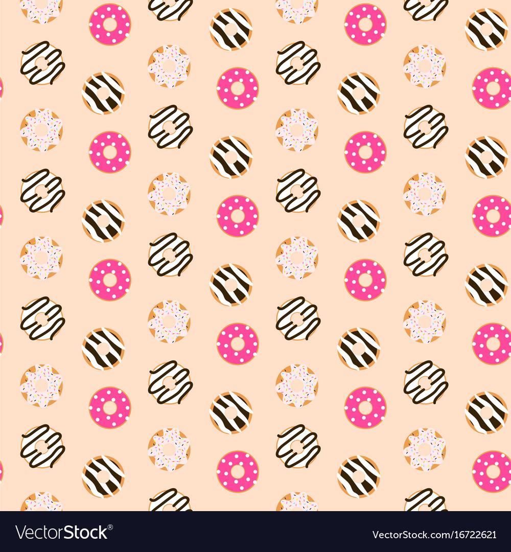 Seamless pattern sweet glazed donuts