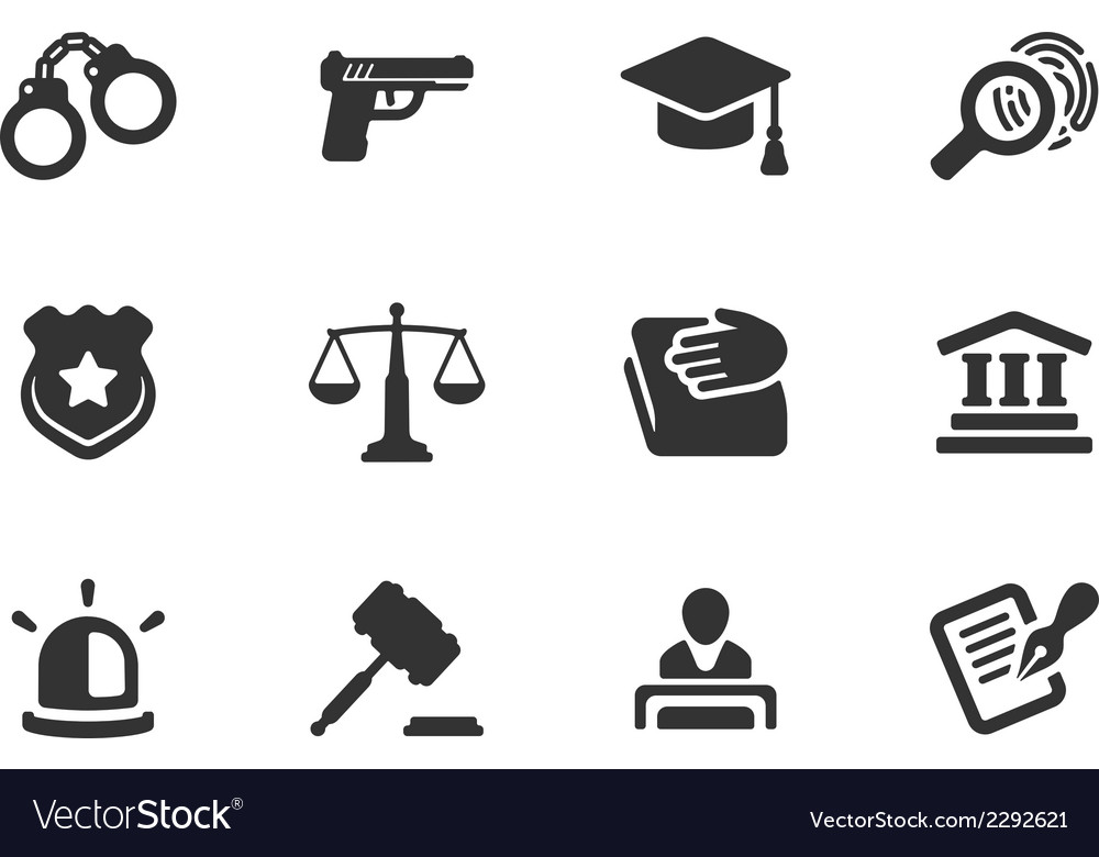 Set justice and police icons