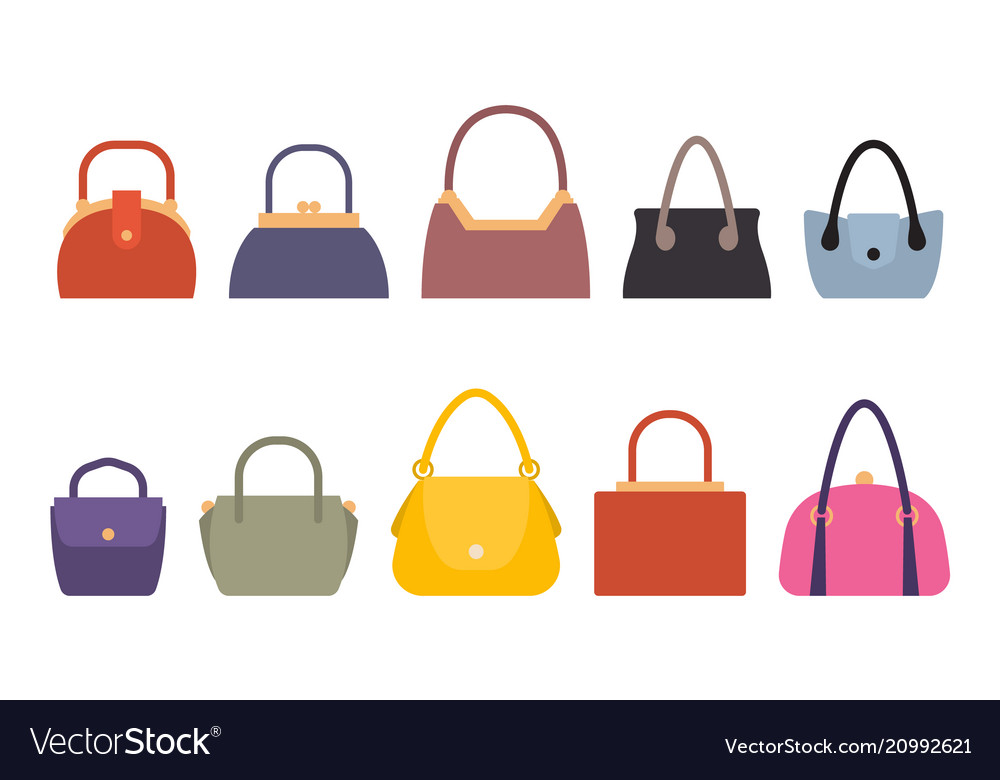 Set of women bags stylish accessory females