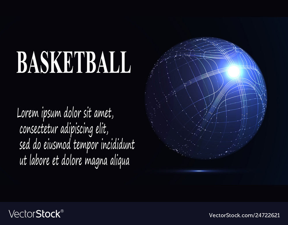 Silhouette of a basketball ball dots lines