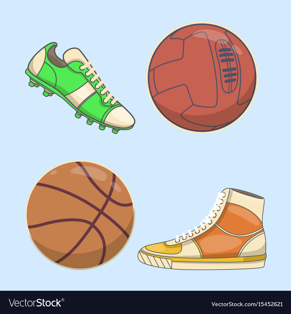 Sneakers icon in flat style isolated on white