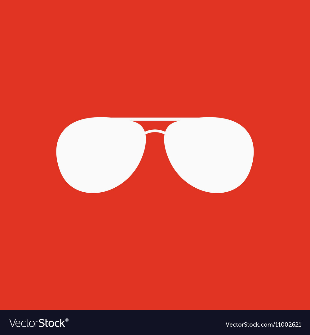 The Sunglasses Icon Glasses Symbol Flat Royalty Free Vector