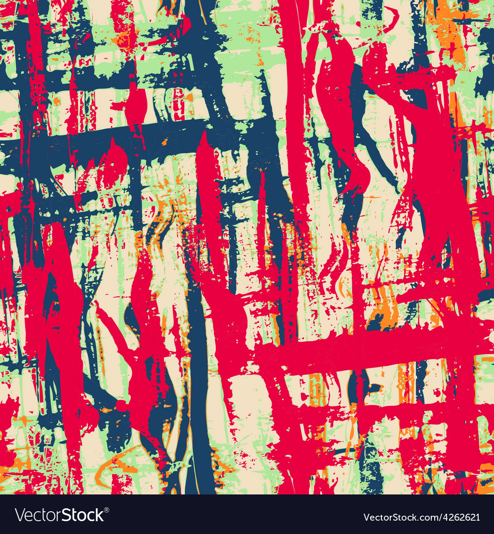 Urban grunge seamless pattern with paint effect
