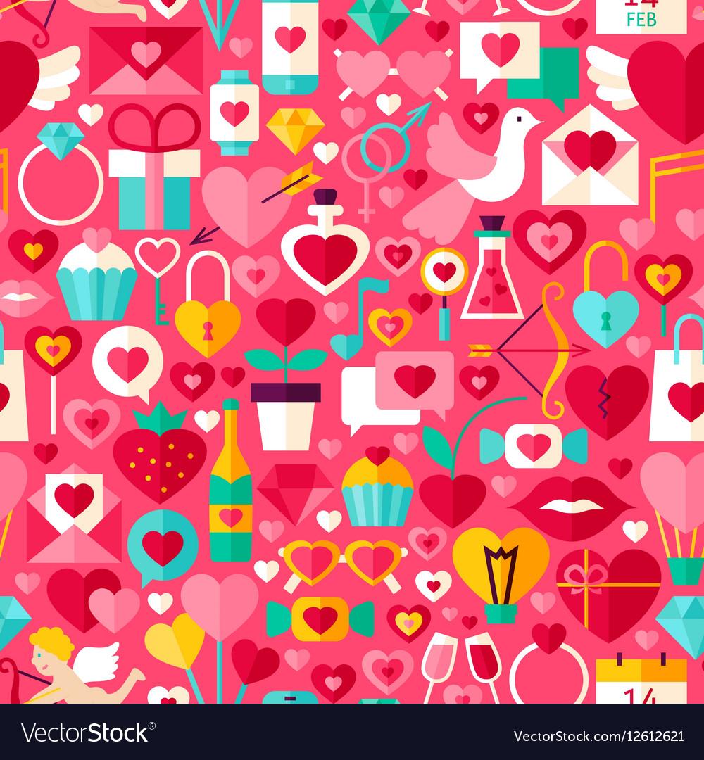 Valentines day pink seamless pattern