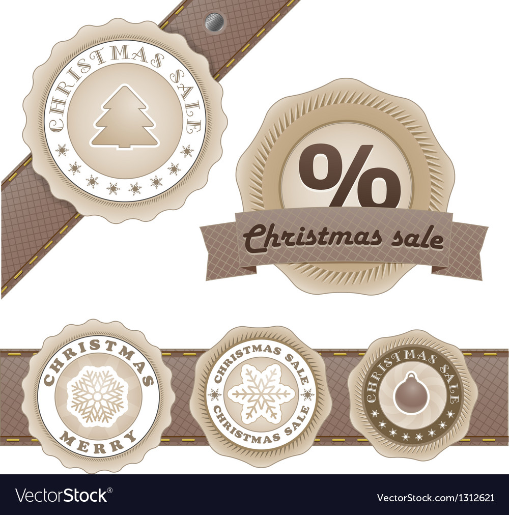 Winter vintage discount labels set