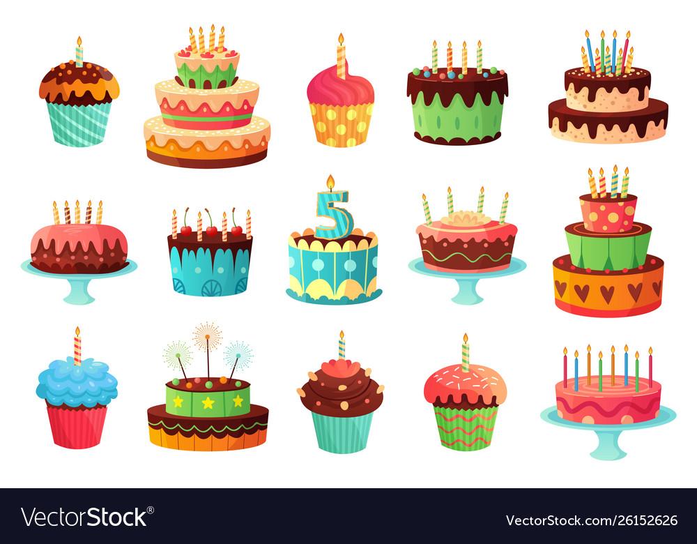 Cartoon birthday party cakes sweet baked cake