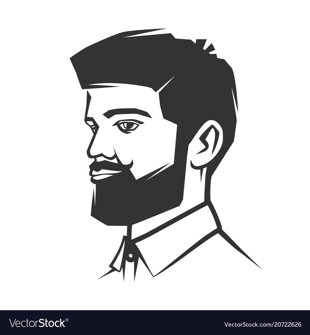 Mans face with beard