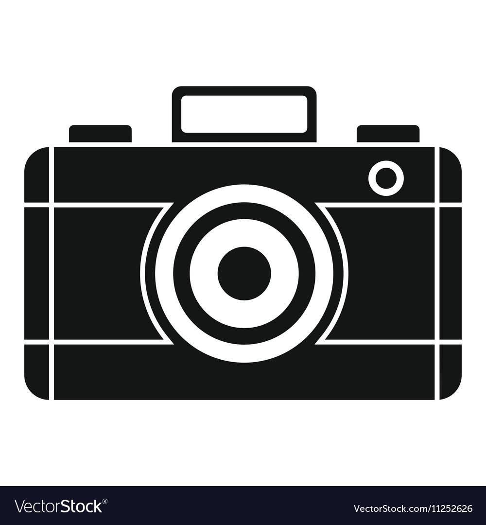 Photo camera icon simple style