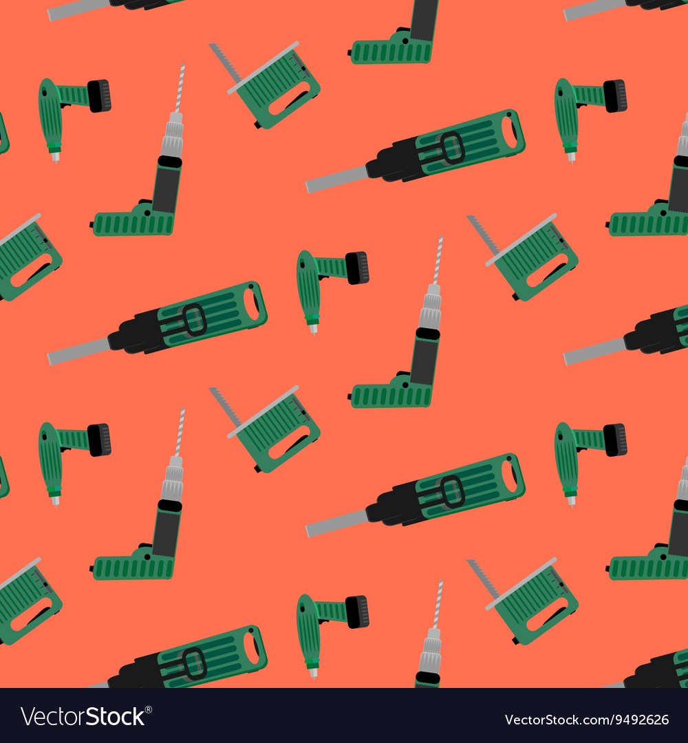 Seamless pattern with instrument for construction vector image