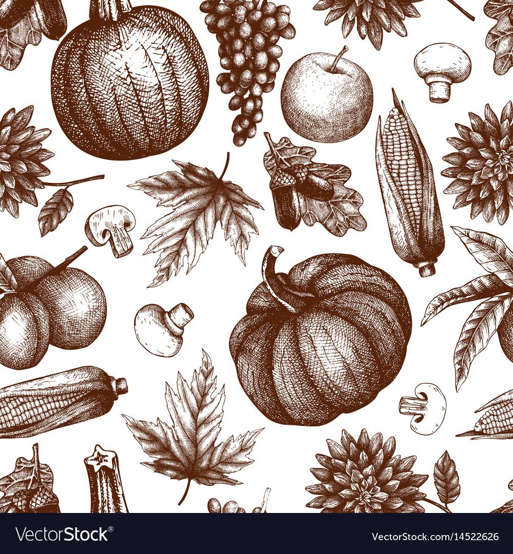 Vintage autumn festival pattern