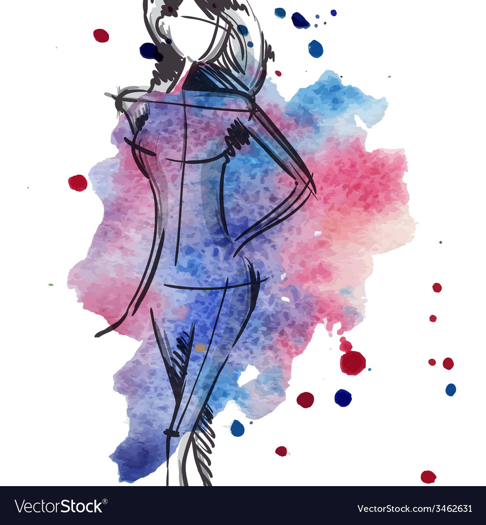 Art Background With Beautiful Young Fashion Woman