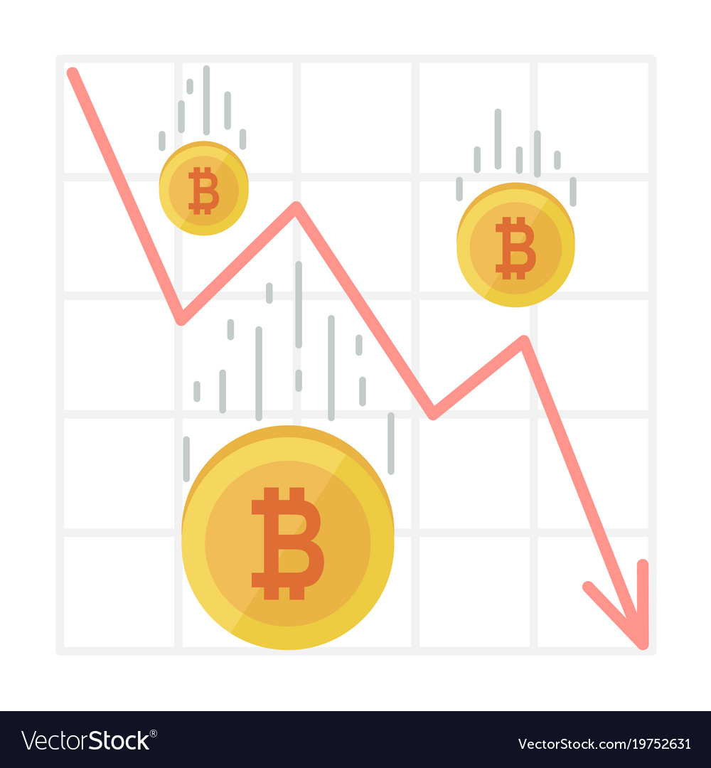 Bitcoin fall chart cryptocurrency decline graph